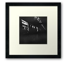 Holga London underground Framed Print
