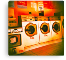Holga Laundrette Canvas Print