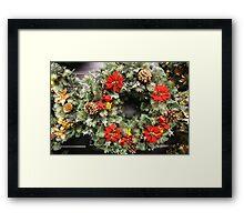 CHRISTMAS WREATH . Framed Print