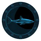 Engraved Shark by Bill Cournoyer