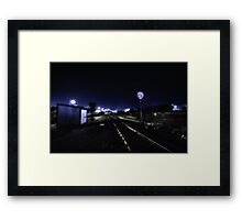Dark Tracks Framed Print