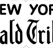 """New York Herald Tribune!""  Sticker"