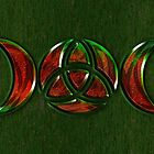 Triple Moon Goddess Symbol with Trinity Knot by chromedreaming