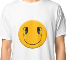 Smiley headphones Classic T-Shirt