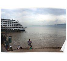 Cruise boat, Three Gorges, China Poster