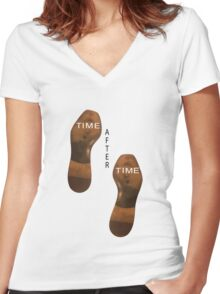 Time after time Women's Fitted V-Neck T-Shirt