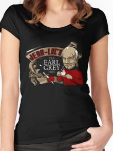 Jean Luc's Engaging Earl Grey Women's Fitted Scoop T-Shirt