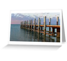 Jetty Reflection Greeting Card