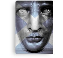 Statue of Liberty Scotland Flag Poster Canvas Print