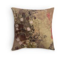 Pearlescent squares encroached on by slush Throw Pillow