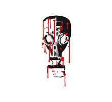 cool design gas mask pattern tattoo blood drop horror halloween evil Photographic Print