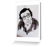 """ Woody Allen"" Greeting Card"