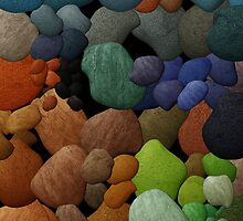 Colored Pebbles iPhone Cover by Sonteeg
