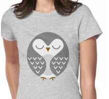 Sleeping Bird Womens Fitted T-Shirt
