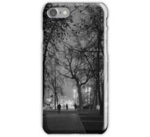 City at Nght Monochrome Black and White iPhone Case/Skin