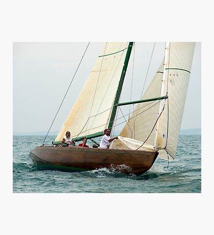 Natural prepares to hoist the spinnaker Photographic Print