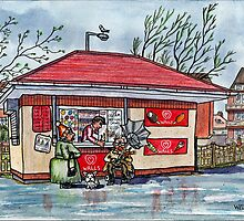 Ice Cream Kiosk, Fairhaven Lake, Ansdell by Tim Wells