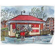 Ice Cream Kiosk, Fairhaven Lake, Ansdell Poster