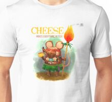 Cute Cave Mouse and his Cheese Unisex T-Shirt