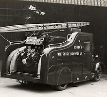 Fire Engine belonging to Ushers Brewery, Trowbridge by Trowbridge  Museum