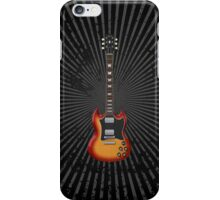 Sunburst Electric Guitar iPhone Case/Skin