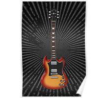Sunburst Electric Guitar Poster