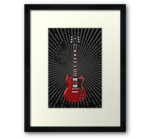 Red Electric Guitar Framed Print