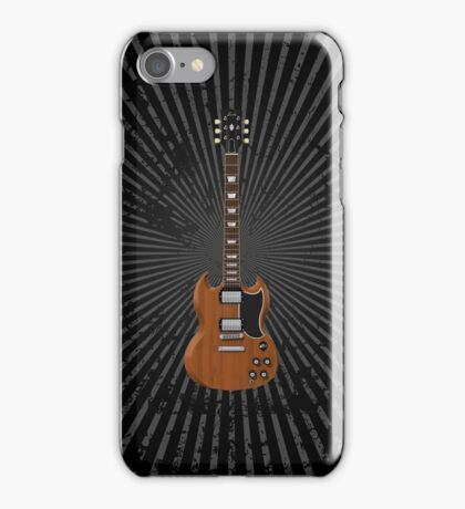 Electric Guitar with Wood Finish iPhone Case/Skin