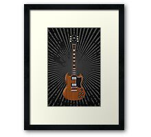 Electric Guitar with Wood Finish Framed Print
