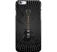Black Electric Guitar iPhone Case/Skin
