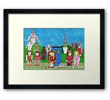 4th Doctor and his companions Framed Print
