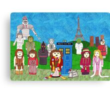 4th Doctor and his companions Canvas Print