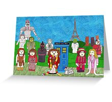 4th Doctor and his companions Greeting Card