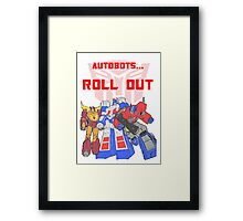 Roll Out Autobots! Framed Print