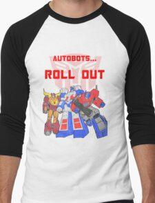 Roll Out Autobots! Men's Baseball ¾ T-Shirt