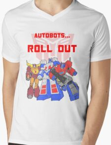 Roll Out Autobots! Mens V-Neck T-Shirt