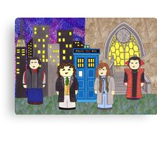 8th Doctor and his companions Canvas Print