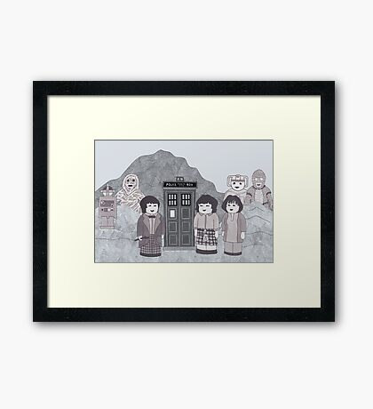 2nd Doctor and his companions Framed Print