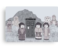 2nd Doctor and his companions Canvas Print