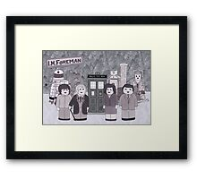 1st Doctor and his companions Framed Print