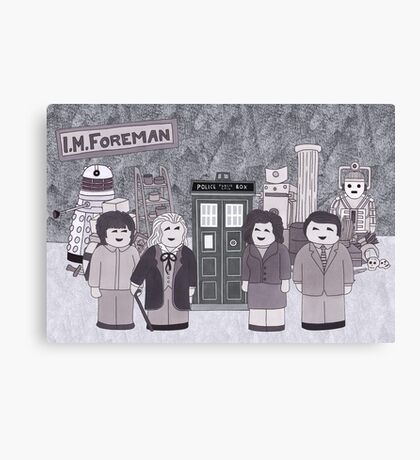 1st Doctor and his companions Canvas Print