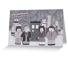 1st Doctor and his companions Greeting Card