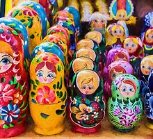 Traditional Russian matryoshka Nesting Puzzle Dolls by NeonAbstracts