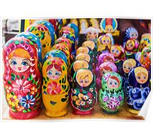 Traditional Russian matryoshka Nesting Puzzle Dolls Poster