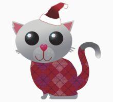 Santa Kitty Kids Clothes