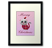 Santa Kitty Framed Print