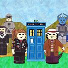 7th Doctor and his companions by HappyDoctors