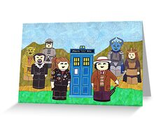 7th Doctor and his companions Greeting Card