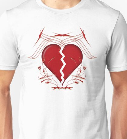 Broken Heart & Tribal Graphics Unisex T-Shirt