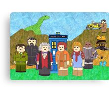 3rd Doctor and his companions Canvas Print